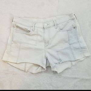 Gap 1969 light wash high rise cutoffs.
